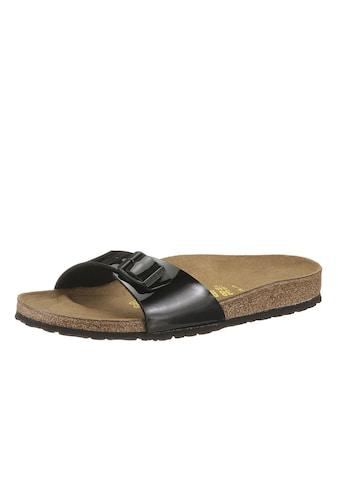 Birkenstock Pantolette »MADRID«, in schmaler Schuhweite, Lack-Optik! kaufen