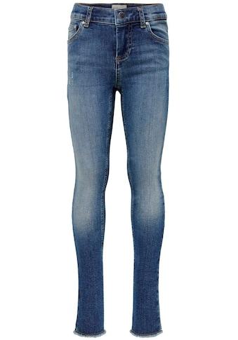 KIDS ONLY Skinny-fit-Jeans »KONBLUSH SKINNY RAW«, mit offener Saumkante kaufen