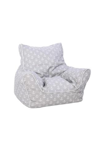 Knorrtoys® Sitzsack »Sitzsack Grau mit Ankern« kaufen