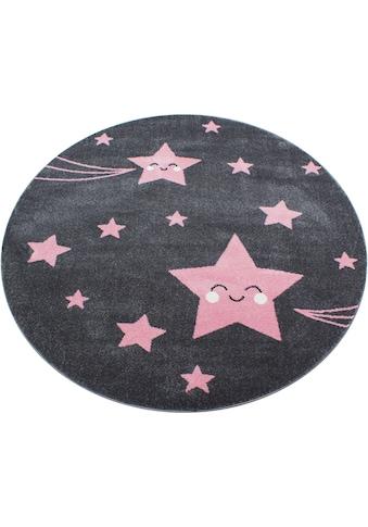 Ayyildiz Kinderteppich »Kids 610«, rund, 12 mm Höhe, Sterne Motiv, Kurzflor kaufen