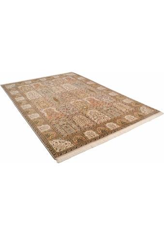 THEKO Orientteppich »Baktyari K«, rechteckig, 12 mm Höhe, Flor aus 30% Seide, handgeknüpft, mit Fransen, Wohnzimmer kaufen