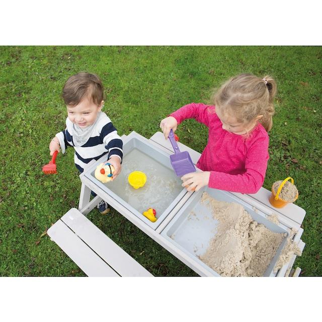 roba® Kindersitzgruppe »Outdoor Deluxe mit Spielwannen, grau« (Set, 1-tlg)