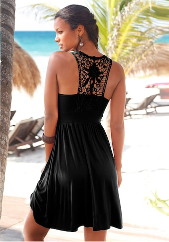 LASCANA Strandkleid, mit Spitzenrücken kaufen