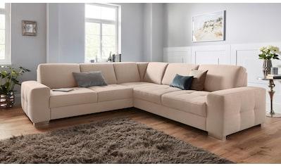 sit&more Ecksofa, mit Federkern und Sitztiefenverstellung, wahlweise mit Bettfunktion und Bettkasten kaufen