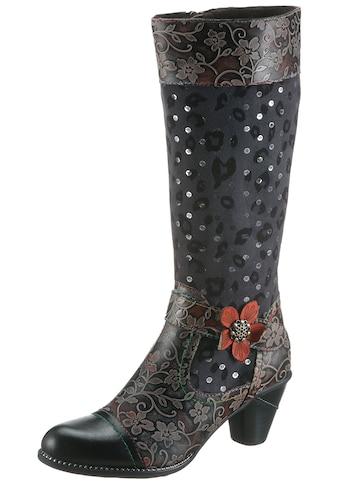 LAURA VITA Stiefel »Alcizeeo«, mit auffälliger Blüte kaufen
