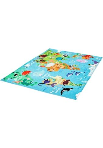 Obsession Kinderteppich »My Torino Kids 233«, rechteckig, 10 mm Höhe, mit Weltkarten-Motiv kaufen