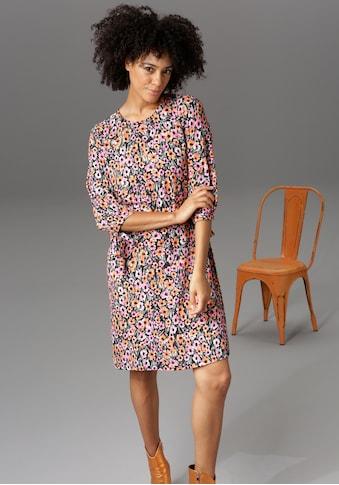Aniston CASUAL Blusenkleid, 3/4-lange Ärmel mit Bindeband - NEUE KOLLEKTION kaufen