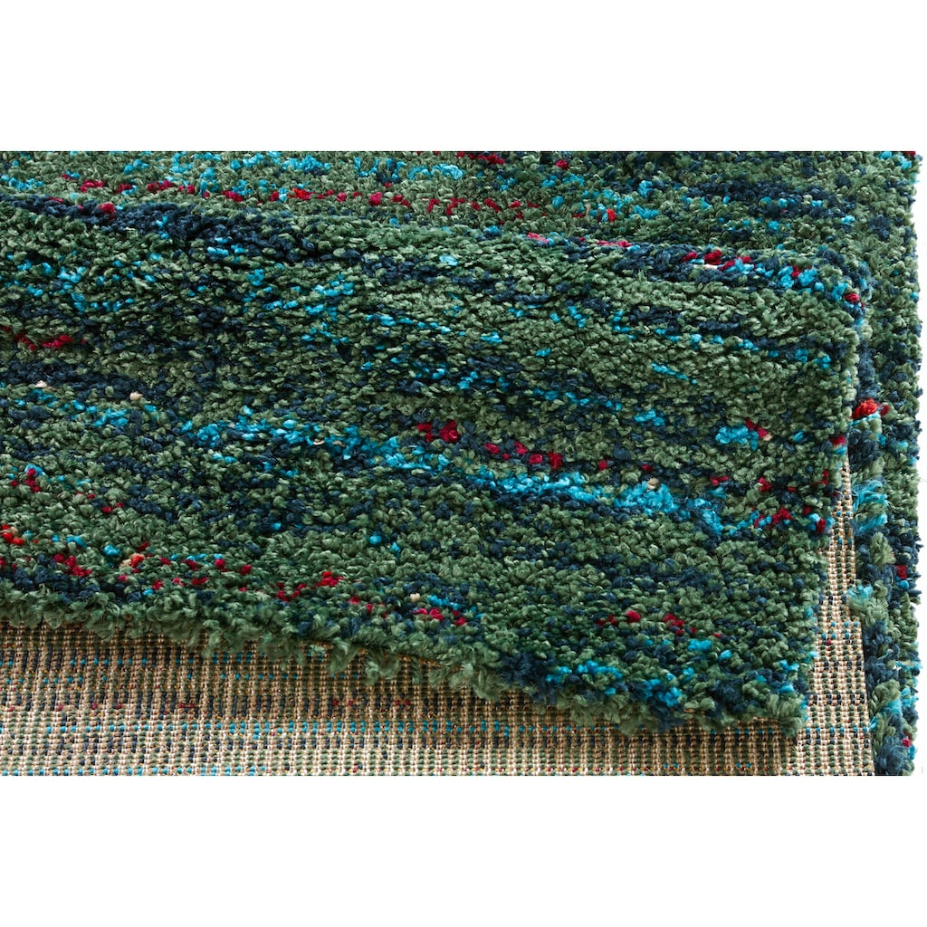 MINT RUGS Hochflor-Teppich »Chic«, rechteckig, 30 mm Höhe, mehrfarbiger weicher Langflor, Wohnzimmer