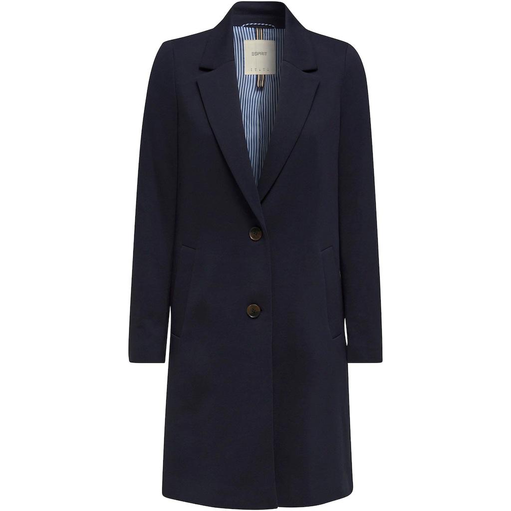 Esprit Kurzmantel, aus hochwertiger Jersey-Qualität mit hohen Seitenschlitzen
