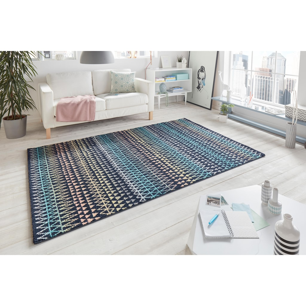 MINT RUGS Teppich »Scandinavian«, rechteckig, 9 mm Höhe, Kurzflor, Skandi Look, Wohnzimmer