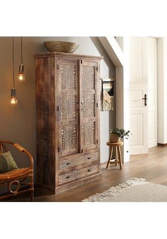 Home affaire Kleiderschrank »Maneesh«, aus schönem massivem Mangoholz und vielen... kaufen