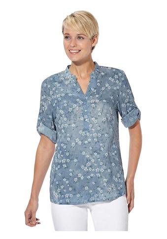 Classic Basics Bluse mit femininen Blüten kaufen