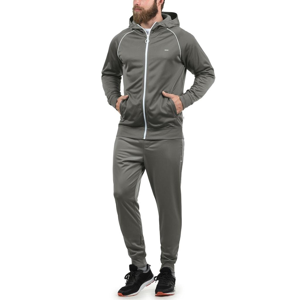 Solid Trainingsjacke »Leandros«, Sweatshirtjacke mit weissem Reissverschluss
