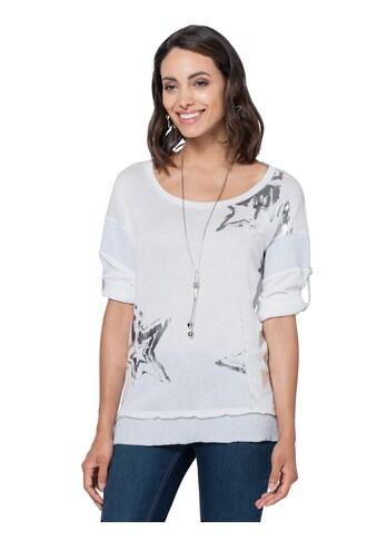 Ambria Shirt mit silberfarbenfarbigem Folien - Print im Sternen - Dessin kaufen