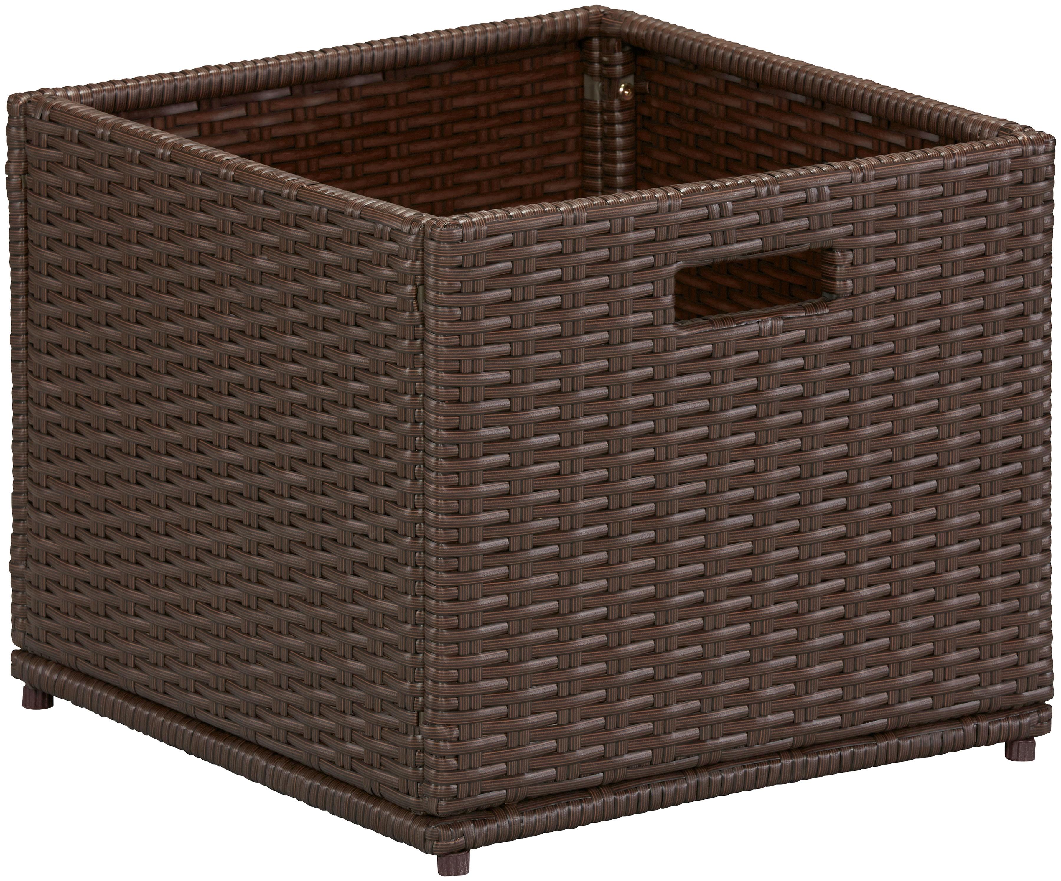 Image of Auflagenbox, (B/H/T): ca. 46x39x49 cm, Polyrattan, braun