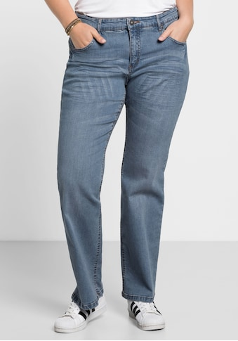 Sheego Bootcut-Jeans, Individuelle Used-Effekte kaufen