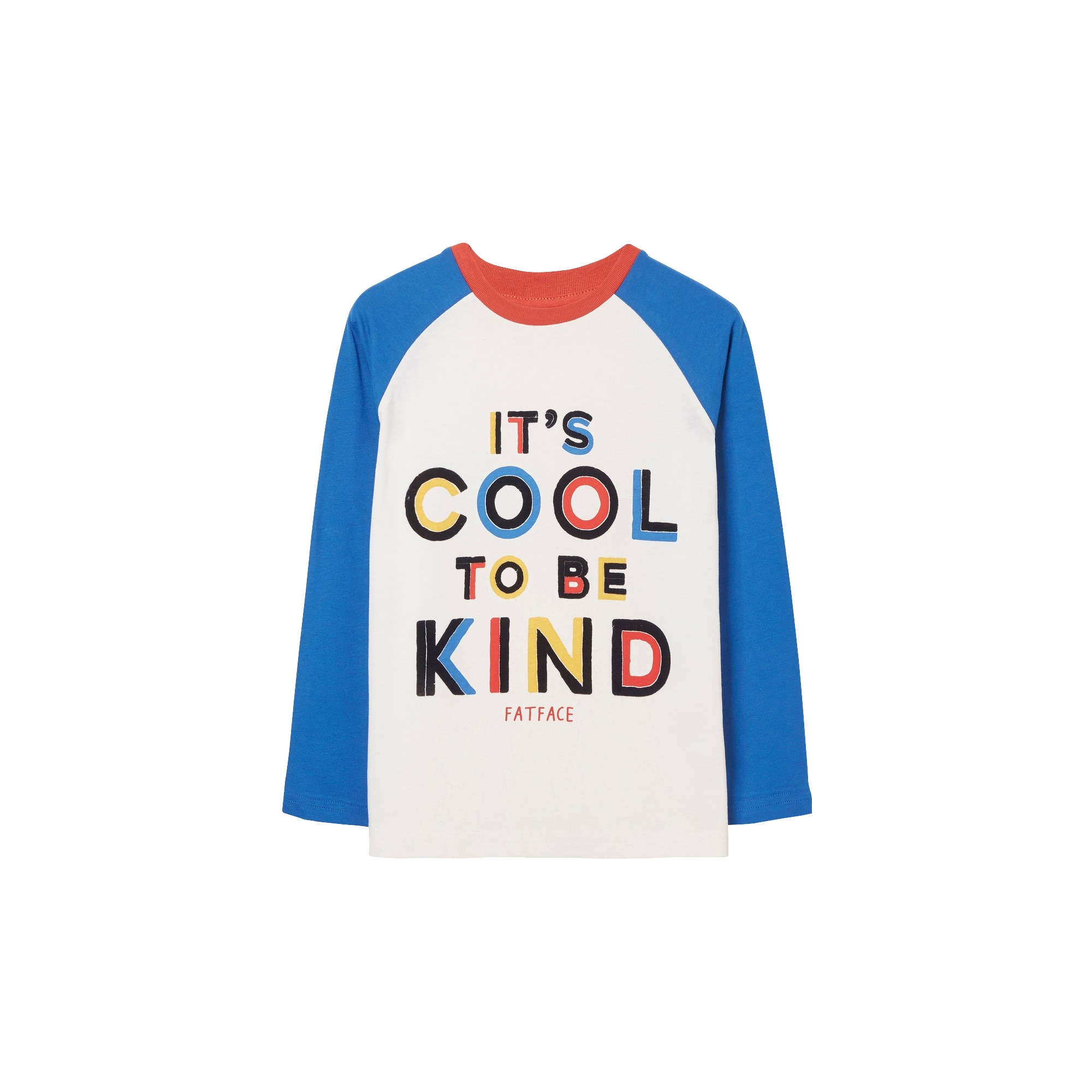 Image of FatFace Langarmshirt »Kinder mit Grafik Cool To Be Kind«