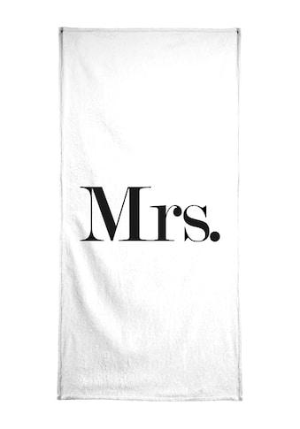 """Handtuch """"Mrs."""", Juniqe kaufen"""