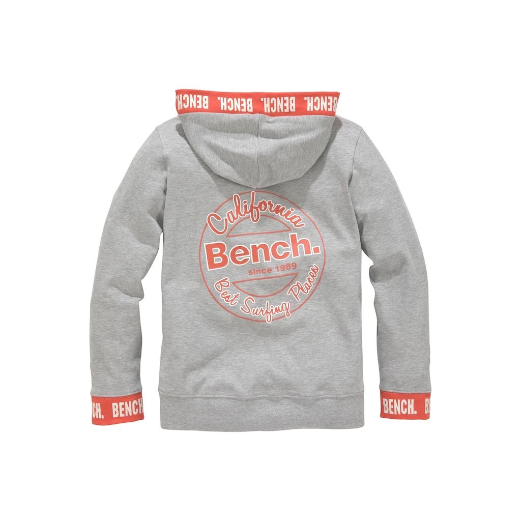 Bench. Sweatshirt, mit Logo-Druck auf den Bündchen