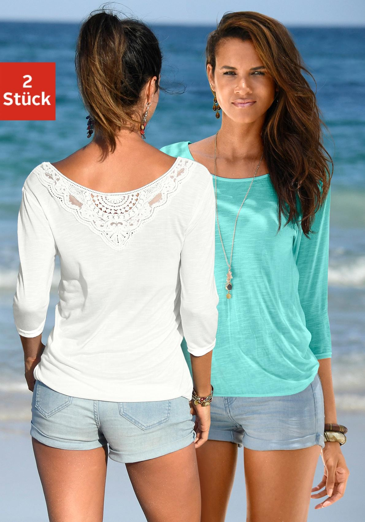 Image of Beachtime 3/4-Arm-Shirt