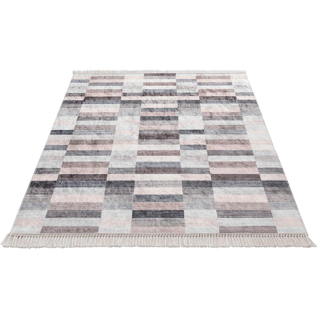 Sehrazat Teppich »Caimas 2951«, rechteckig, 5 mm Höhe, waschbar, weiche Microfaser, Wohnzimmer