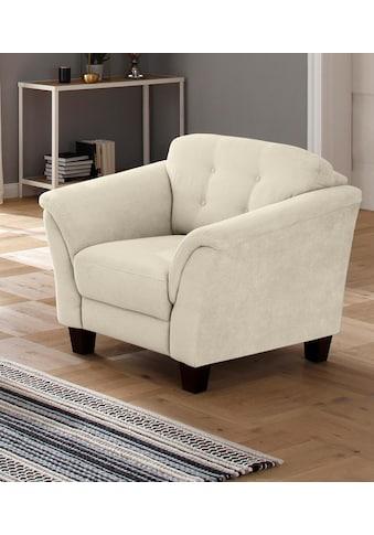 Home affaire Sessel »Lillesand«, mit Federkern, Knopfheftung im Rücken, Füsse Buche kaufen
