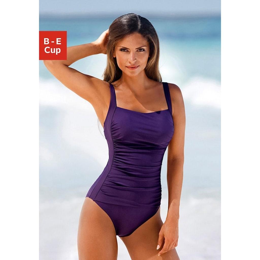 LASCANA Badeanzug, mit Raffungen und Shaping-Effekt