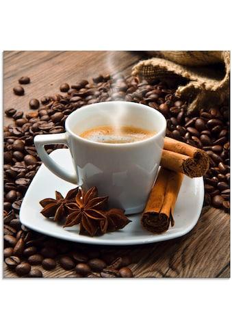 Artland Glasbild »Kaffeetasse Leinensack mit Kaffeebohnen« kaufen