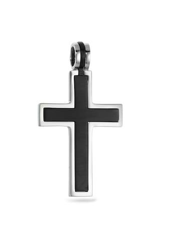 Anhänger Edelstahl PVD beschichtet Kreuz kaufen