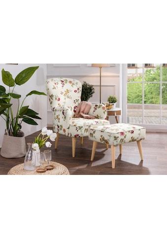 Max Winzer® Hocker »Lale«, dekorative, umlaufende Kedernähte kaufen
