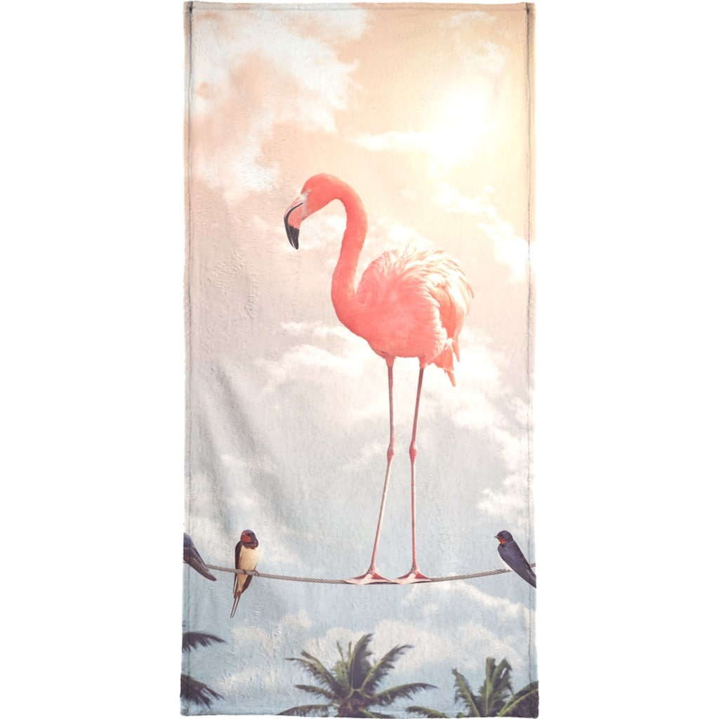 """Handtuch """"Flamingo and Friends"""", Juniqe"""