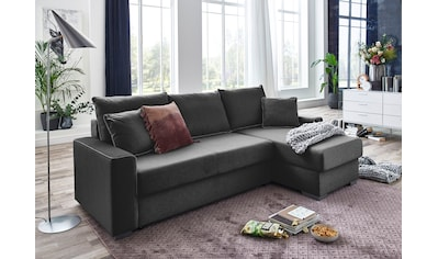 ATLANTIC home collection Ecksofa »JORDAN«, mit Taschenfederkern, Bettfunktion,... kaufen