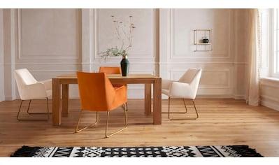 Guido Maria Kretschmer Home&Living Esstisch »Sevran«, aus massiver Wildeiche, in unterschiedlichen Tischbreiten und zwei Farbvarianten kaufen