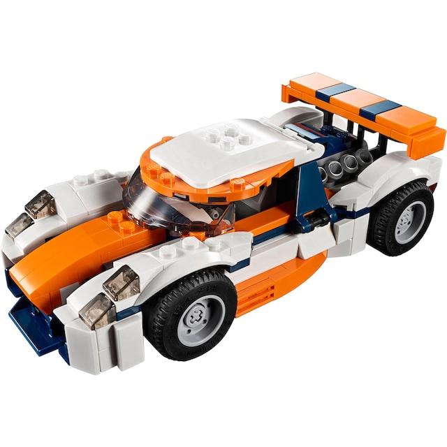 """LEGO® Konstruktionsspielsteine """"Rennwagen (31089), LEGO® Creator"""", Kunststoff, (221-tlg.)"""