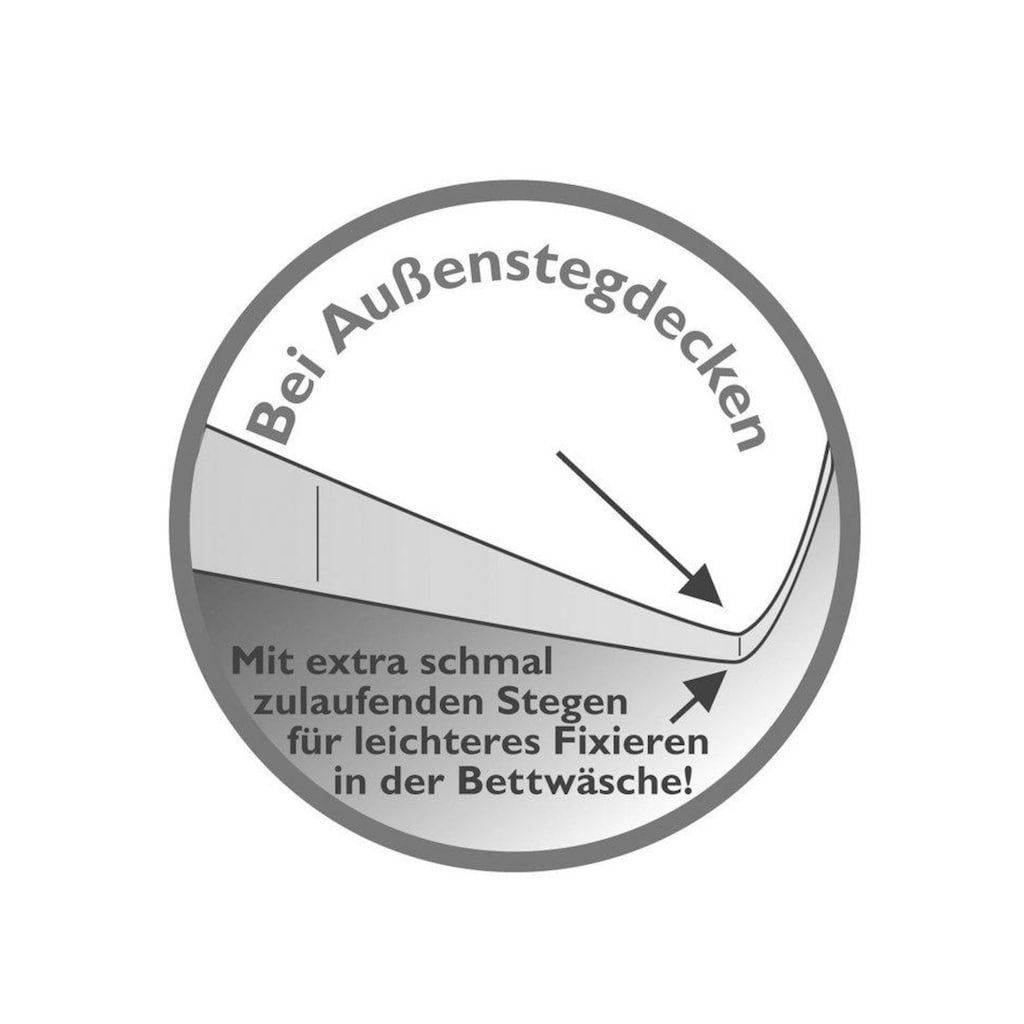 Balette Federkopfkissen »Passiona«, Füllung: 100 % neue reine Gänsefedern, Bezug: 100% Baumwolle (Feinköper), (1 St.)