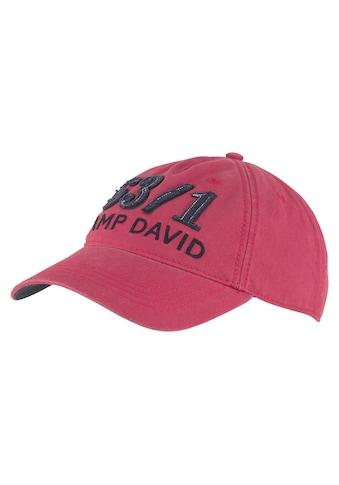 CAMP DAVID Baseball Cap, Stone washed, Baumwolle kaufen