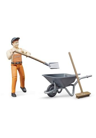 Bruder® Spielfigur »Kommunalarbeiter«, (Set), Made in Germany kaufen