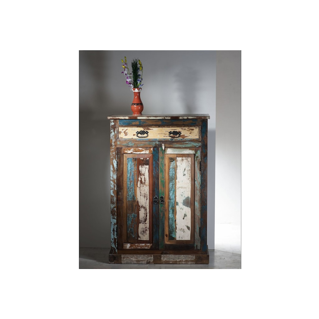 SIT Highboard »Riverboat«, aus recyceltem Altholz, Shabby Chic, Vintage