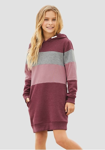 Arizona Sweatkleid, mit Kapuze und Colorblocking kaufen