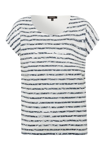 MORE&MORE Lace Striped Shirt with Sequin Acti kaufen