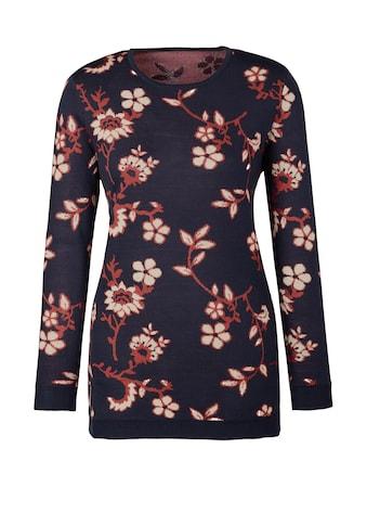 Classic Basics Pullover mit Blüten - Muster kaufen