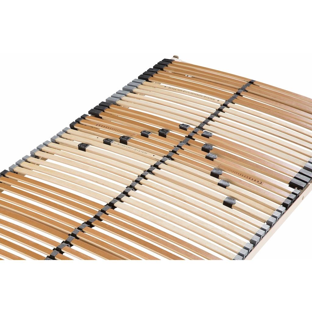 Beco Lattenrost »Perfekta«, 42 Leisten, Kopfteil manuell verstellbar, Ideal für Doppelbetten geeignet
