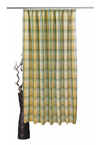 VHG Vorhang »Lene«, Leinenoptik, Karo, skandinavisch kaufen