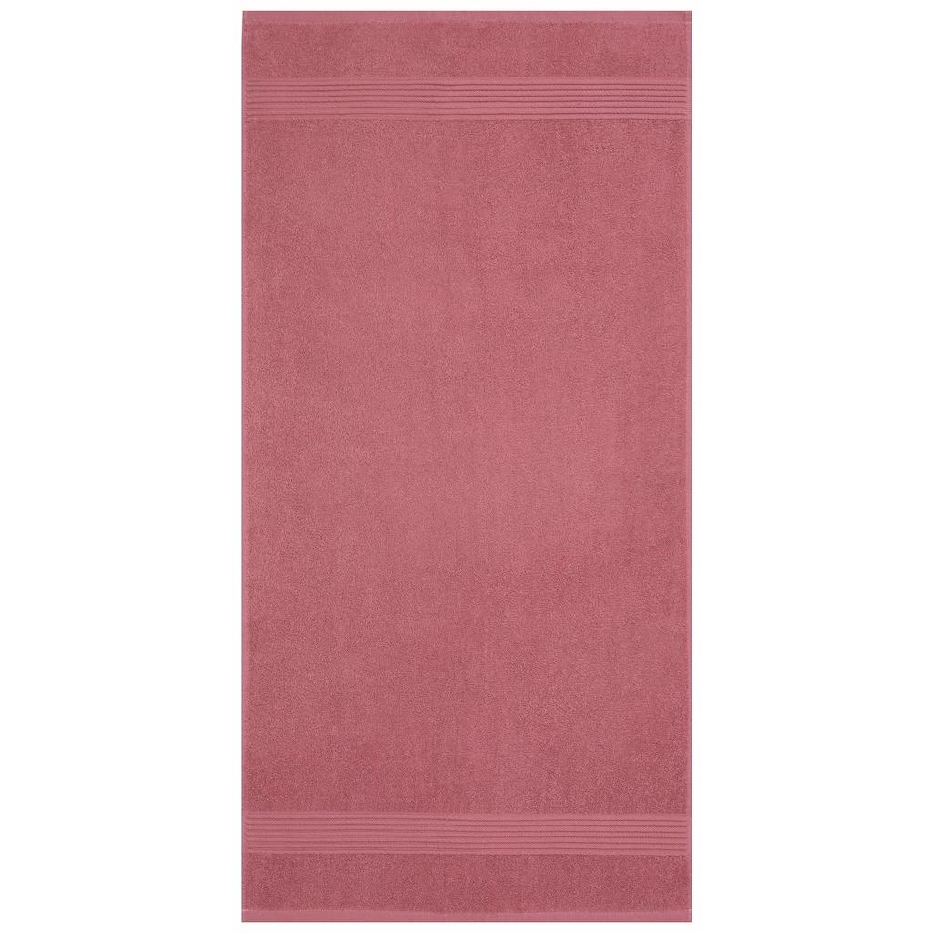 my home Handtuch Set »Anna«, mit gestreifter Strukturbordüre
