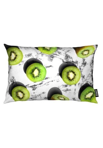 Juniqe Dekokissen »Fruit 3«, Weiches, allergikerfreundliches Material kaufen