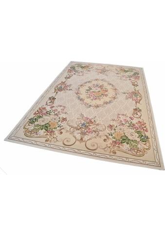 THEKO Teppich »Flomi Floral«, rechteckig, 3 mm Höhe, Flachgewebe, Wohnzimmer kaufen