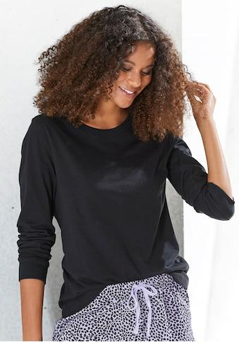 Vivance Dreams Pyjamaoberteil, mit Rippbündchen kaufen