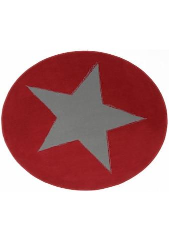 HANSE Home Teppich »Stern«, rund, 9 mm Höhe, Motiv Stern kaufen