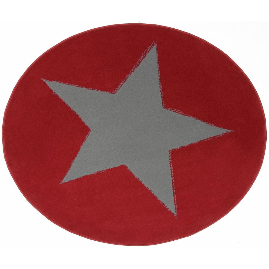 HANSE Home Teppich »Stern«, rund, 9 mm Höhe, Motiv Stern
