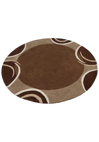 Theko Exklusiv Wollteppich »Bellary«, rund, 13 mm Höhe, reine Wolle, mit Bordüre, Wohnzimmer kaufen